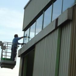Nettoyage vitres en nacelle